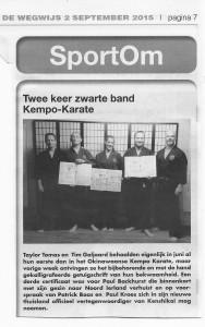 Krantenartikel Wegwijs zwarte band